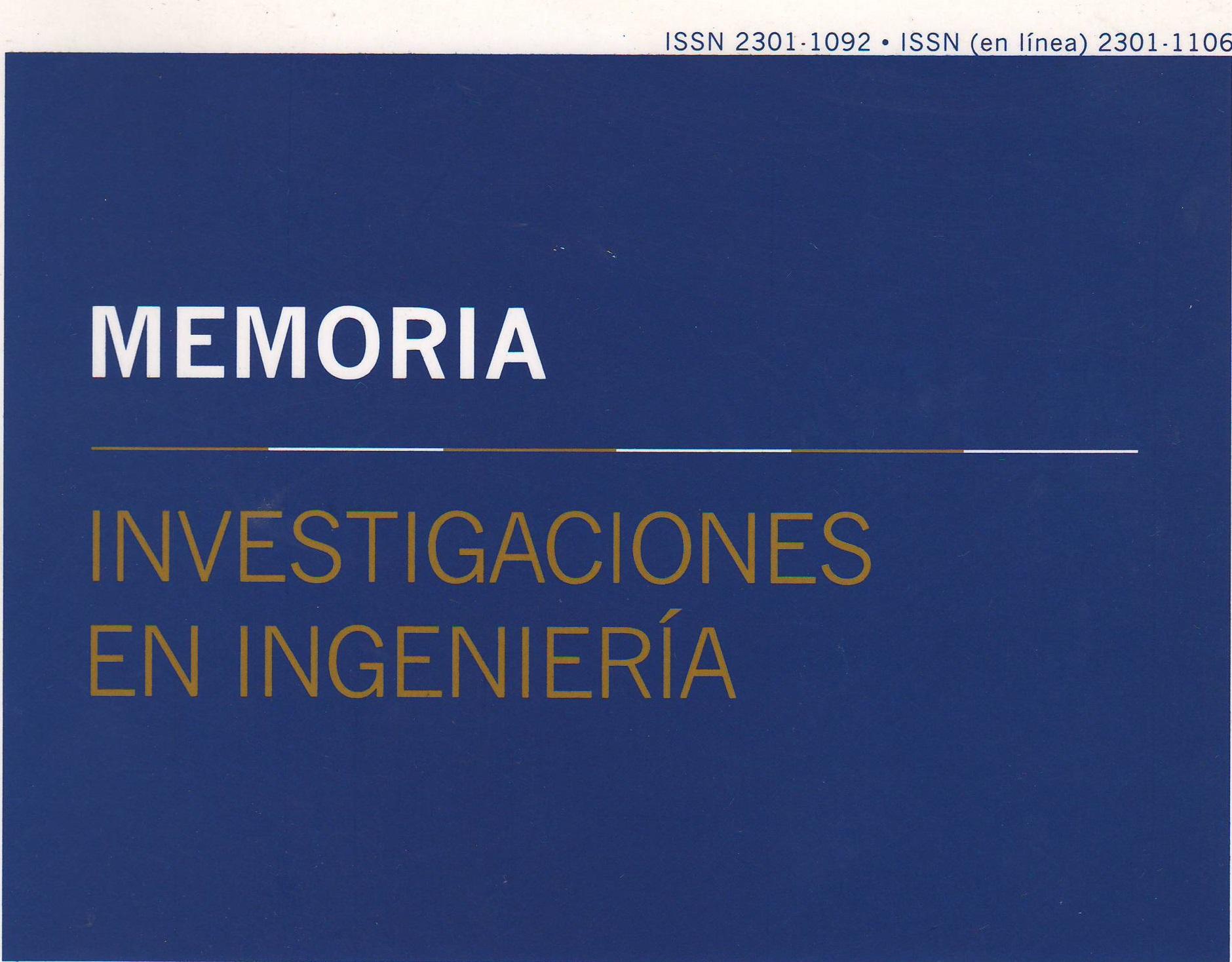 Memoria Investigaciones en Ingeniería